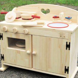 レンジの付いたフルキッチンに、吉野の桧でできた鍋セットがつきました!