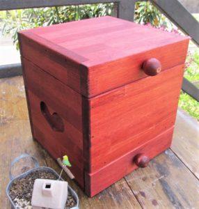 手作り木製 姫鏡台 メイクボックス